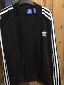 Girls Adidas 3 stripe jacket