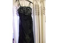 BLACK PROM/BRIDESMAID DRESSES SIZE 12 AND 14