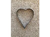 Heart cookie cutter 50p