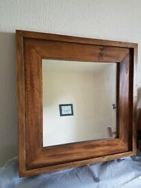 Solid Pine Square Mirrors
