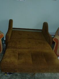 Small Sofa Bed 2 Arm chairs will sell separate if needed £40.00 sofa bed Chairs £20.00 each