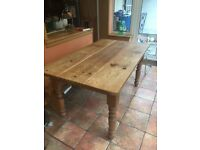 Refectory style kitchen table and bench