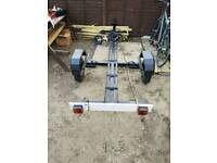 motorbike trailer comes with straps and trailer board