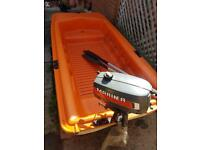 Tabur Yak 2 Boat/Dinghy or Tender with Yamaha Mariner 2hp short shaft 2 stroke outboard engine!