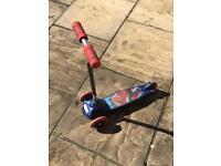 Spider-Man Scooter 3 Wheeled Boys Outdoor Toy