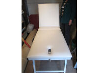 Portable Therapist Bench -with carrying case! Adjustable table & feet, back rise & nose-hole.