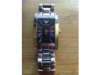 Gent's large chunky Armani wristwatch