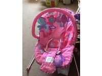 Pink Bouncer chair with music