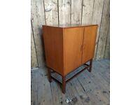 Danish style teak record cabinet 1960s mid century modern vintage retro gplanera