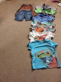 BOYS T-SHIRTS *9 + 3 KNEE LENGHT SHORTS ALL AGED 3-4 excellent condition 😀
