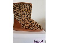 Brand new leopard boots