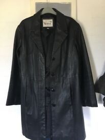 Vivid 100% leather coat