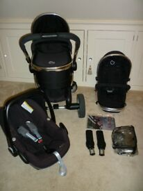 iCandy Peach Pram/Carrycot/Pushchair + Maxi cosi Pebble Car Seat & Adapter Kit-Excellent Condition