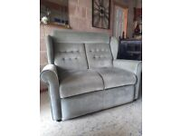 CHEAP TWO SEATER SOFA . settee 2 seat light green / CAN DELIVER IN 5 MILES. chair