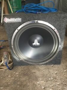15 inch jl audio subwoofer with Orion amp