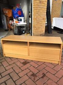 Ikea Oak Effect TV Unit for sale