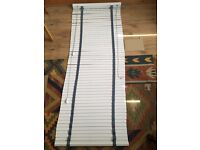 3 Wood Blinds. Premium white, 35mm slat, grey tapes. All 1770mm drop. 930mm, 650mm & 640mm wide.