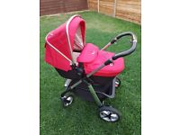 Silver Cross Pioneer Travel System - Red