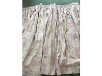 girls blackout lined pencil pleat curtains lilac/pink design