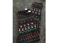 Girls Christmas leggings size 8-9