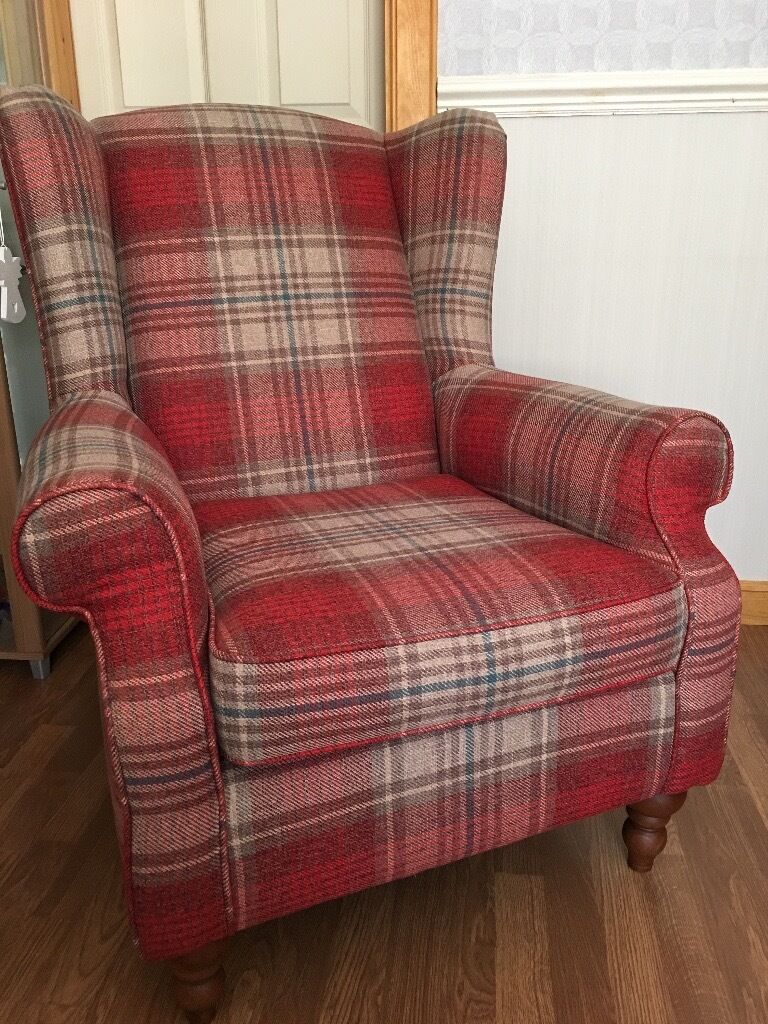 Arm Chair Next High Back Tartan Chair In Inverness