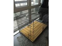 Extra large dog cage with memory foam Base