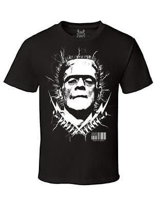 Men Printed Frankenstein Movie Thunder Halloween Skeleton Funny MMA Tee T-Shirt