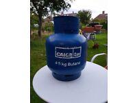 Calor gas butane 4.5kg bottle 1/4 full camping or caravan