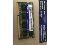 RAM Chip RAM Sodimm 4GB DDR3 PC3-10600S Adata AD73I1C1674EV