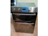hotpoint stainless double oven with mirror glass