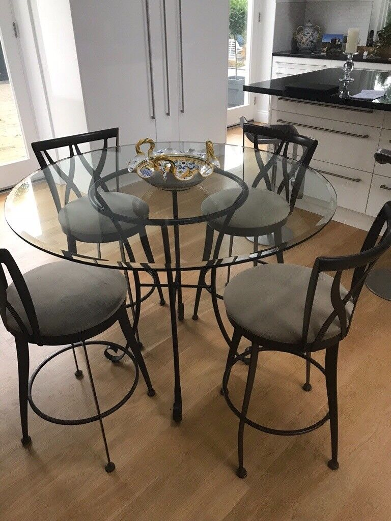Bargain Glass High Top Dining Table And 4 Swivel Chairs In Holywood County Down Gumtree