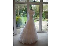 Designer wedding dress size 10