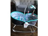TINY LOVE 3 in 1 napper/rocker in grey/turquoise excellent condition!!