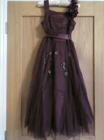 Next Signiture Age 10 Plum bridesmaid or any special occasion dress size
