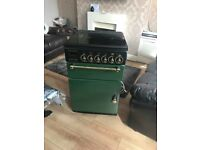 Leisure rangemaster 55 green and black gas cooker
