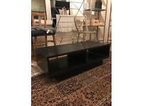 Black veneer TV stand