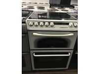 60CM WHITE CREDA DOUBLE OVEN ELECTRIC COOKER