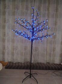 5' Blue LED Cherry Blossom Tree