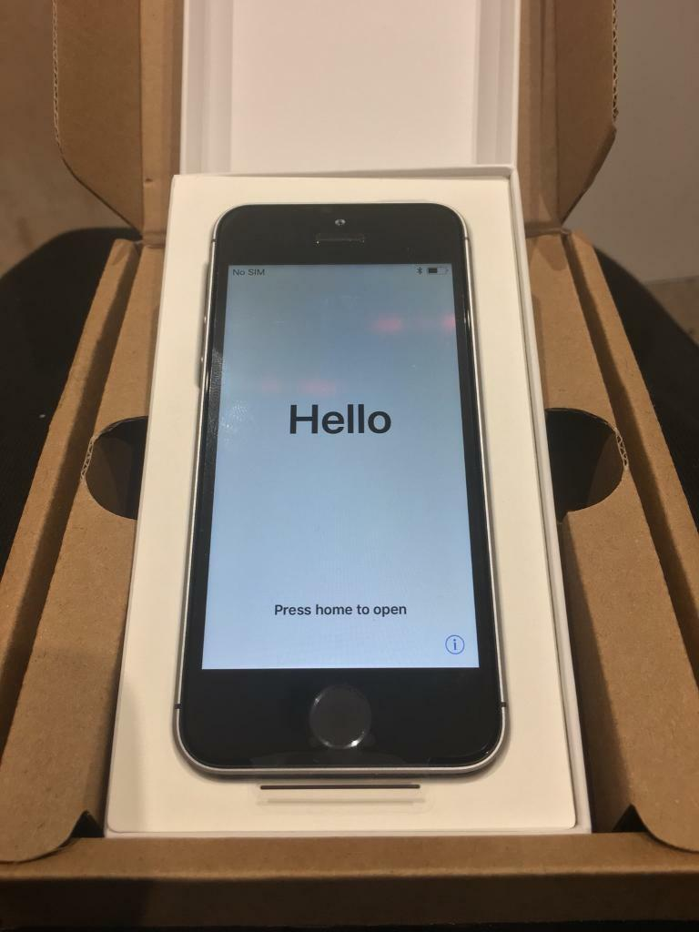 Brand New iPhone SE 16GB Black Grey O2 Tesco Giff Gaff Boxed with