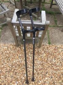Like-New Black Elbow Crutches