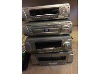 Dvd, cd, cassette and disc changer surround sound 5 speaker set