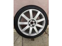 Genuine Audi alloy with brand new tyre just fitted 235 40 18