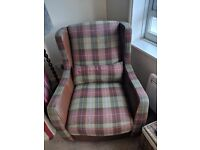 Brown leather / tartan cloth. Bought from Pratts. 15 months old. Excellent condition £600 new