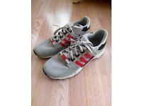 Adidas mens Equipment trainers Grey/Red UK 10