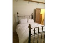 Genuine antique double bed