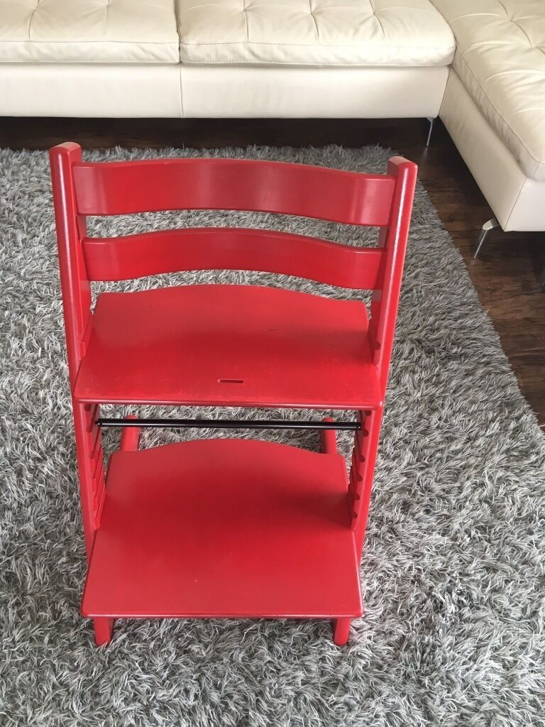 red stokke tripp trapp chair in warwick warwickshire gumtree. Black Bedroom Furniture Sets. Home Design Ideas