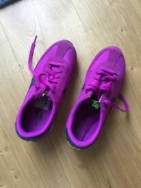 Women's Nike classic SUEDE purple trainers