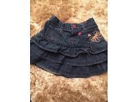 Denim skirt size 18-24 Months Butterfly by Matthew Williamson