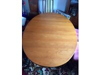 Wooden Oval Extendable Table