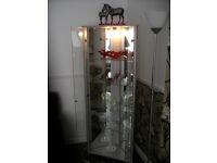 Triangle Corner Glass Display Unit .